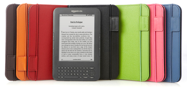 Pebble-granined leather Official Amazon Kindle Keyboard cover