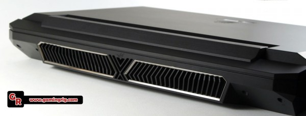 Redesigned cooling vents on the back